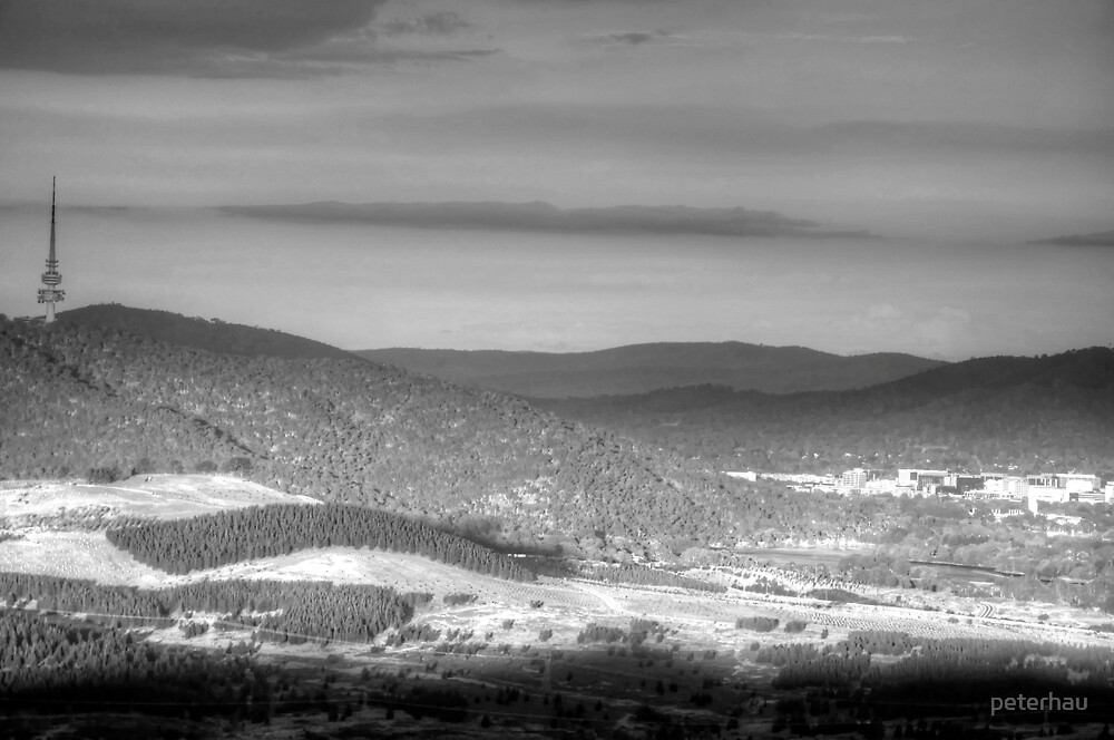 Sunset on Canberra - BW by peterhau