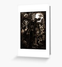 Boys night out Greeting Card