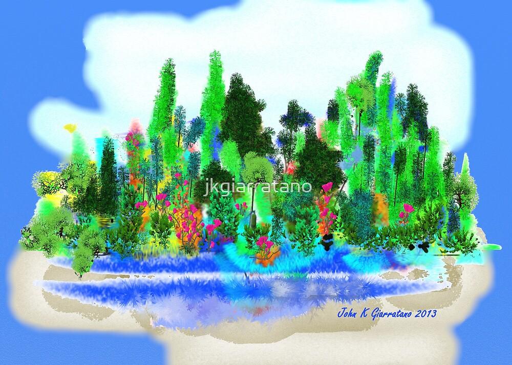 ACEO Landscape Fantasy Forest 1 by jkgiarratano