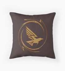 Eagle in Tribal Throw Pillow