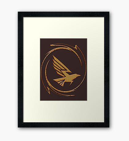 Eagle in Tribal Framed Print