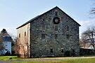 Stone Barn At Christmas - Circa 1835 by Gene Walls