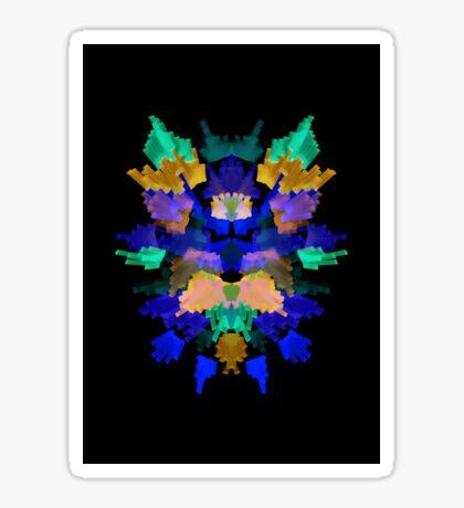 Neon Rorschach II Sticker