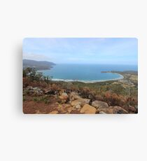 Pirates Bay - from the burnt Eaglehawk lookout Canvas Print