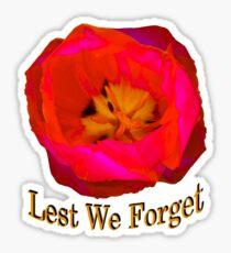 Lest We Forget, Poppy Sticker