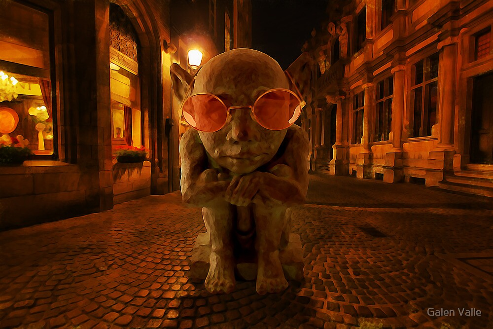 Late - Surrealist Photo Manipulation  by Galen Valle