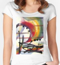 Over the Rainbow Women's Fitted Scoop T-Shirt