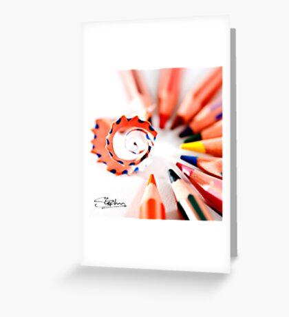 Pencil display Greeting Card