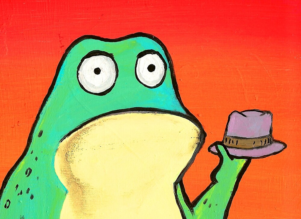 FROG WITH HAT by paulvolker