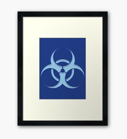 biohazard - organic, bio, hazardous, contaminated, environmentally Framed Print