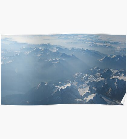 Birds View on the Alps VRS2 Poster