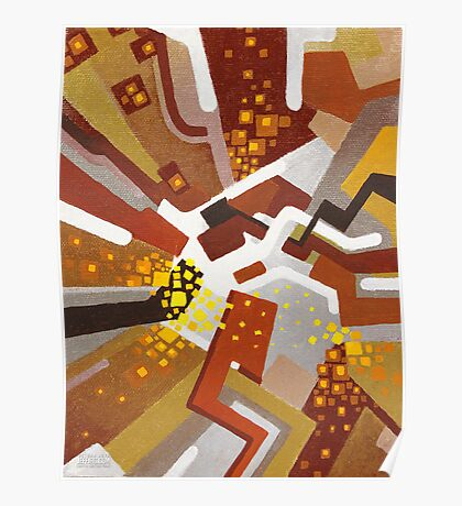 Autumn Nova - Abstract Acrylic Canvas Painting Poster