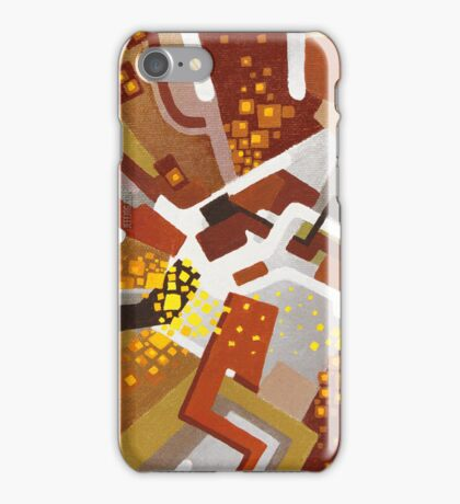 Autumn Nova - Abstract Acrylic Canvas Painting iPhone Case/Skin