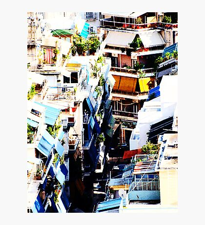 Athens Colorful Back Alley VRS2 Photographic Print