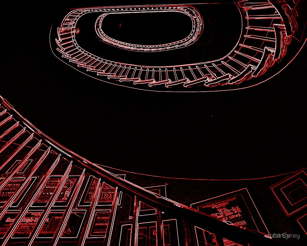 spiral staircase - harvard faculty club by John Carey
