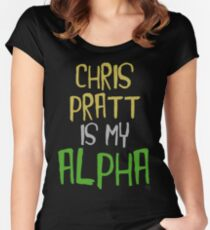 Chris Pratt is My Alpha Women's Fitted Scoop T-Shirt