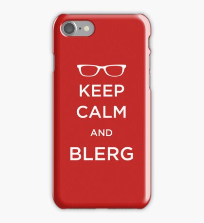 Blerg Sticker iPhone Case/Skin