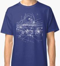 Particle tracks (dark) Classic T-Shirt