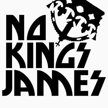 No Kings James Logo Black by shotsinthedark