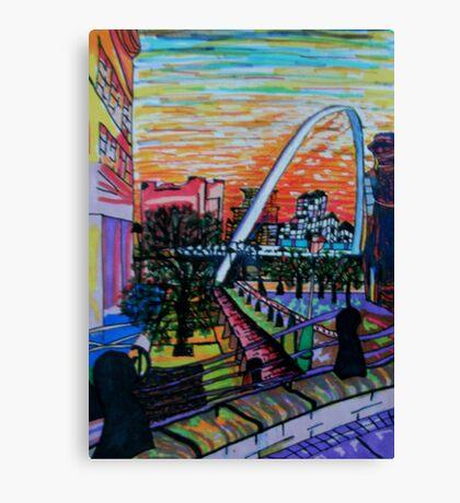 Gateshead Millennium Bridge from Newcastle Canvas Print