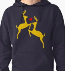 ۞»♥Adorable Jumping Deer Couple Clothing & Stickers♥«۞ Pullover Hoodie