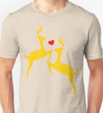 ۞»♥Adorable Jumping Deer Couple Clothing & Stickers♥«۞ T-Shirt