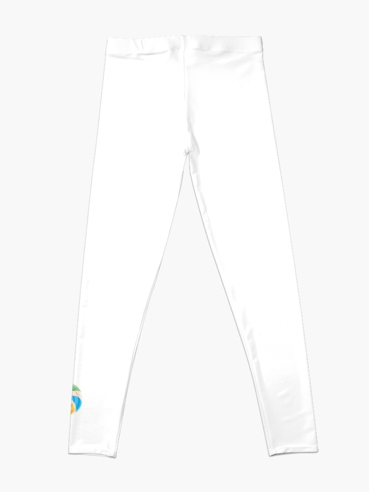 Alternate view of Colorful Lollypop on White Leggings