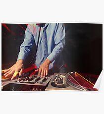 cool urban dj close-up  Poster