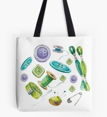 Watercolor Sewing Set Tote Bag