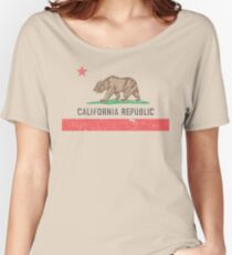 Vintage California Flag Women's Relaxed Fit T-Shirt