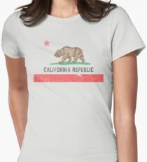 Vintage California Flag Women's Fitted T-Shirt