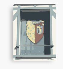 Shuttered Window in Chablis, France Canvas Print