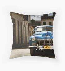 car in havana Throw Pillow