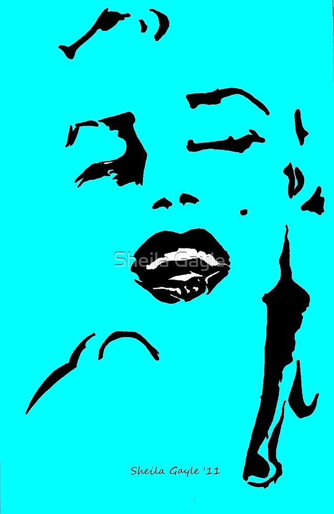 Marilyn in three colours  by Sheila Gayle