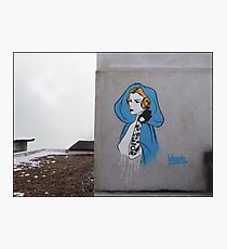 Princess Leia Graffiti Photographic Print