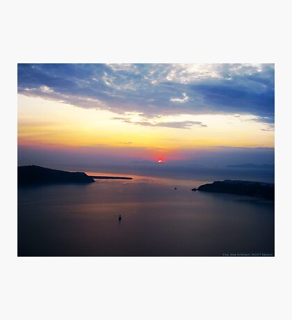 Sunset in Santorini Bay (Greece)  VRS2 Photographic Print