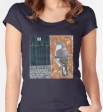 Wings on Blue Women's Fitted Scoop T-Shirt