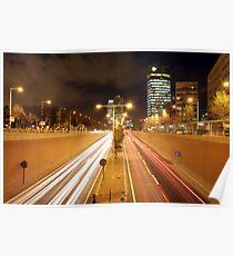 barcelona night rush Poster