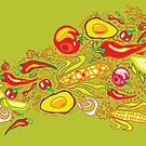 Vegetables Pattern by rusanovska