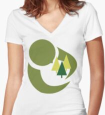 "Earth Day ""Save The Trees"" Women's Fitted V-Neck T-Shirt"