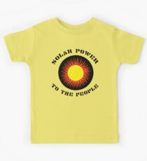 "Earth Day ""Solar Power To The People"" Kids Tee"
