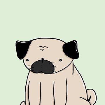 Fat pug  by domogatcha