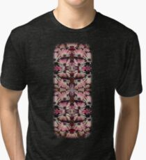 Colorful Pink Daisies Abstract Kaleidoscope Design Tri-blend T-Shirt
