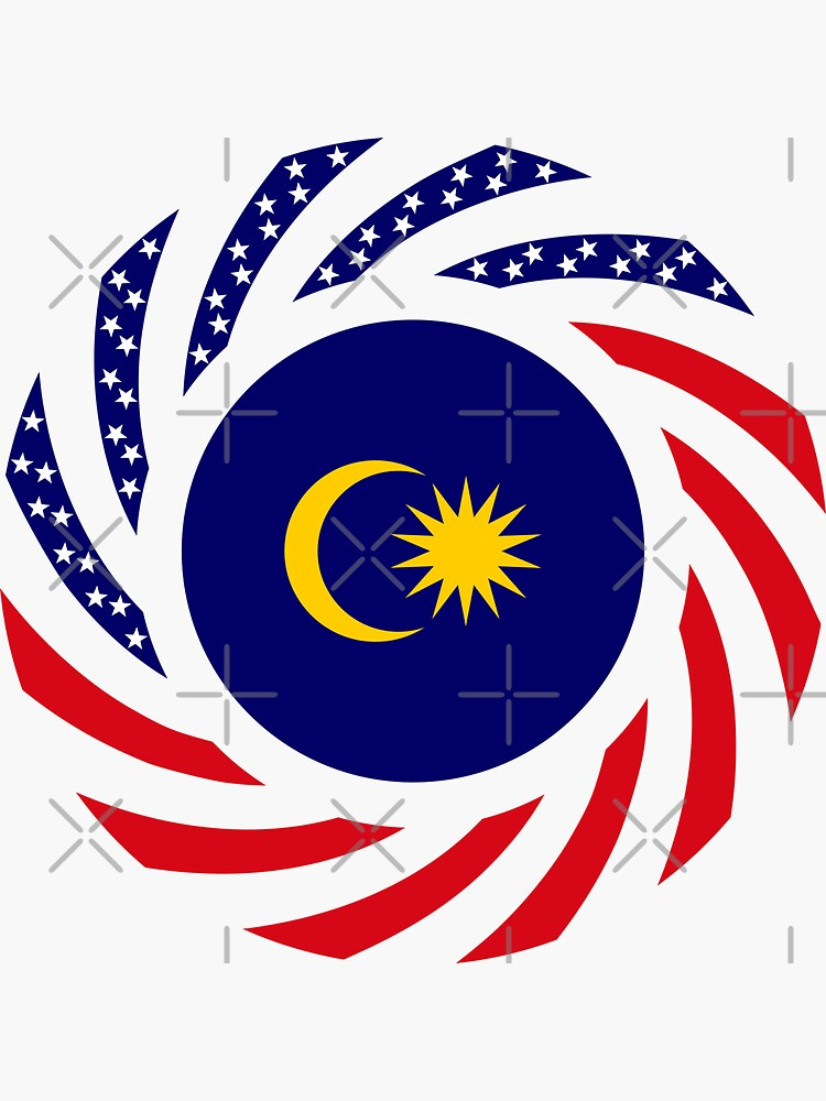 Malaysian American Multinational Patriot Flag Series by carbonfibreme