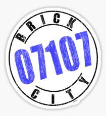 'Brick City 07107' Sticker