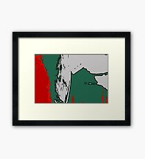 Red + Green Framed Print