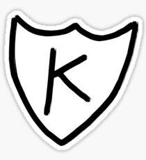 Kurt Cobain - K tattoo, K records  Sticker