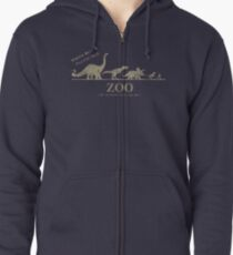 Jurassic Zoological Gardens  Zipped Hoodie