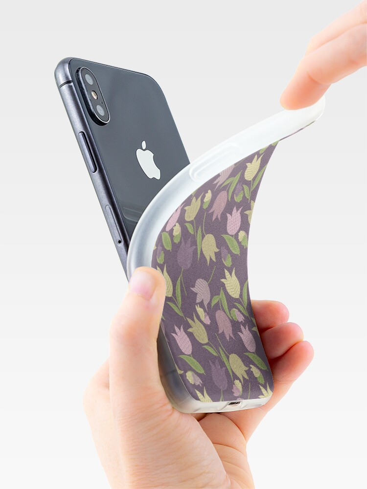 Alternate view of Tulips Pattern  iPhone Case & Cover