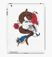 The Ram skull and bird in colour iPad Case/Skin